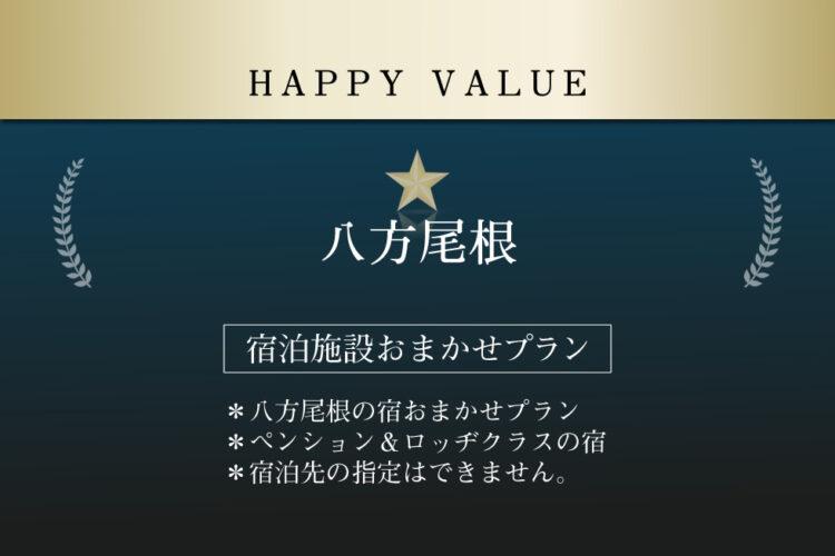 ハッピーバリュー(リフト2日券付き/朝・夕食付き)
