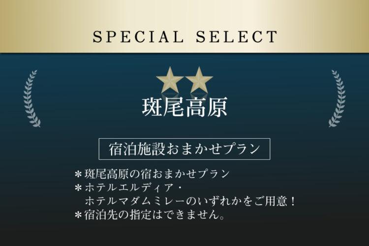 スペシャルセレクト(リフト2日券付き/朝・夕食付き)