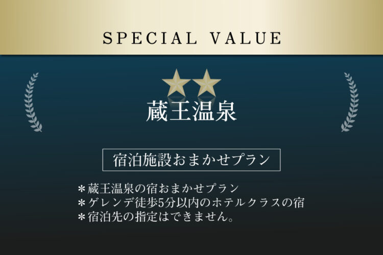 スペシャルバリュー(リフト2日券付き/朝・夕食付き)